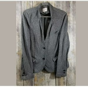 Loft cotton 2 button blazer gray XL